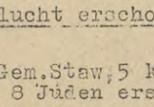 Pokaż powiększenie powyżej: 4. Fragment meldunku Komendantury Policji Porządkowej w dystrykcie lubelskim z 23.10.1943 r. do Dowódcy Policji Porządkowej w Krakowie