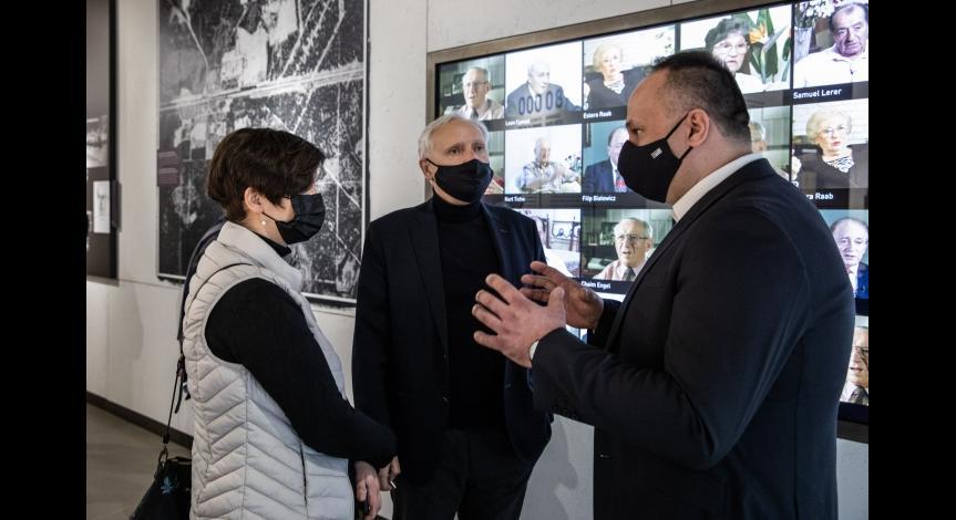 Wizyta delegacji Ministerstwa Kultury, Dziedzictwa Narodowego i Sportu w Sobiborze