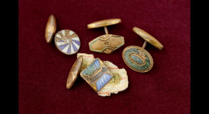 Powiększ obraz: Konserwacja reliktów z Sobiboru