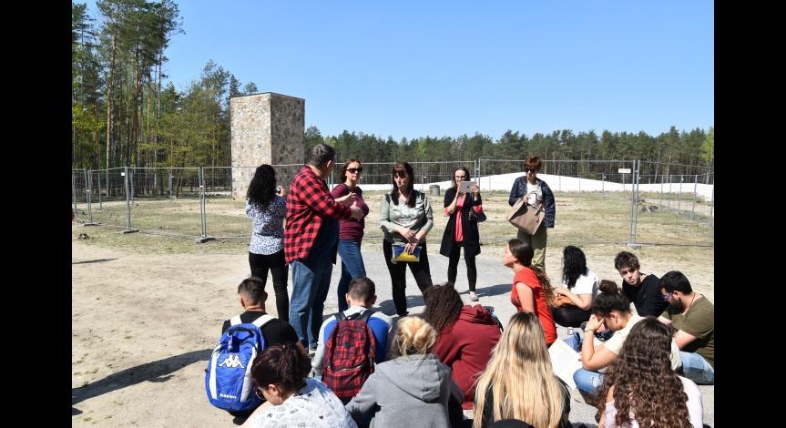 Wizyta młodzieży izraelskiej w Sobiborze