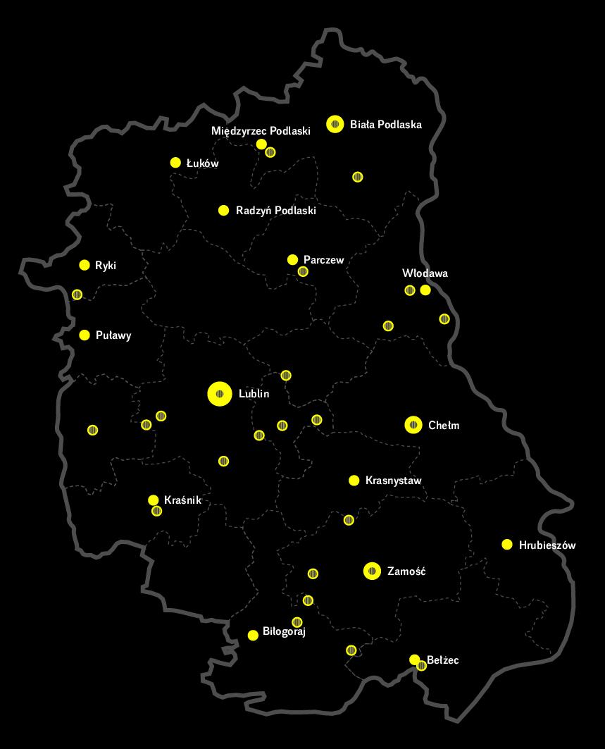 Mapa Lubelszczyzny